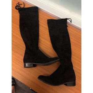 Shoes - Over the knee black suede boots